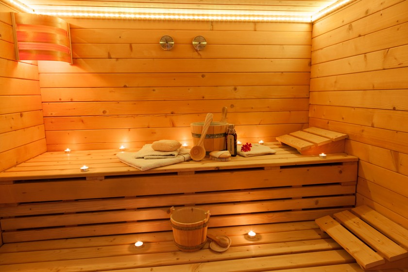 how to install a portable and pre built sauna kit home improvement base. Black Bedroom Furniture Sets. Home Design Ideas