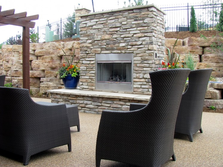 Fabulous Diy Outdoor Stone Fireplace Home Improvement Base Home Interior And Landscaping Synyenasavecom