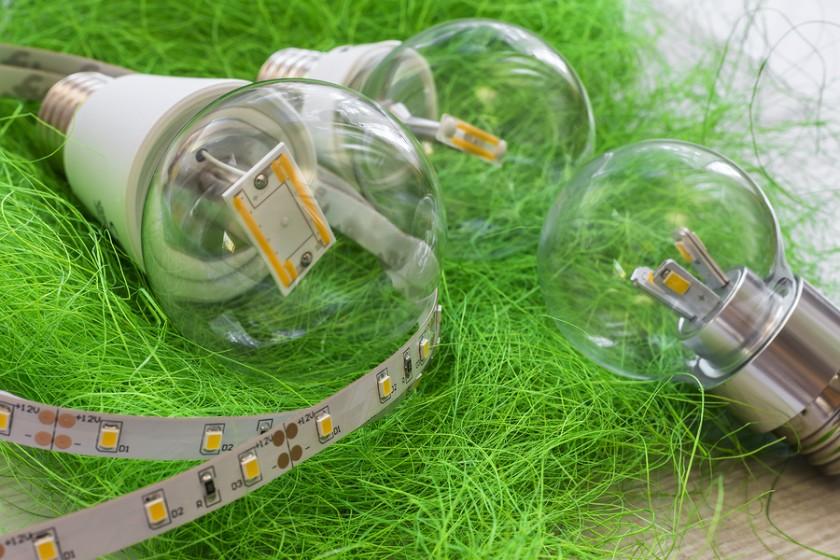 Led Strip With Various E27 Light Bulbs